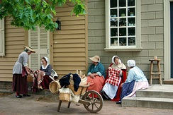 Colonial Virginian culture, language, and style is reenacted in Williamsburg.