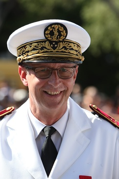 Surgeon general inspector Dominique Vallet, head of the Laveran military medical school, at the ceremonies for Bastille Day in Marseille, 2012