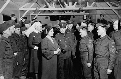 Royal visit to RCAMC, Bramshott, England, 17 March 1941