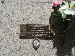 James's tomb at Inglewood Park Cemetery