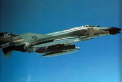 A 13th TFS F-4D carrying a Pave Sword laser pod, in 1971.
