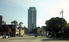 Fox Plaza, Century City headquarters completed in 1987