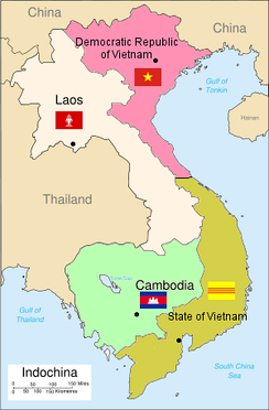 Partition of French Indochina after the 1954 Geneva Conference.