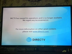 DirecTV's message when IncTV was removed.