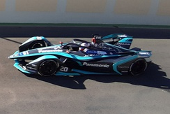 Mitch Evans at the 2019 Marrakesh ePrix.