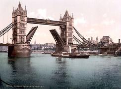 Tower Bridge 1900 год (фотография)