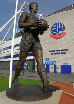 Lofthouse's statue outside the University of Bolton Stadium
