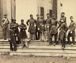 Officers of the 8th New York State Militia at Arlington House, June 1861