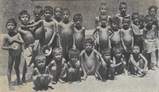 A picture of orphans who survived the Bengal famine of 1943