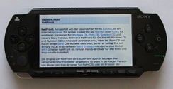 Web browser on a PSP-1000