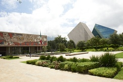 The Rectorate (left) and the CETEC towers at the Monterrey Campus
