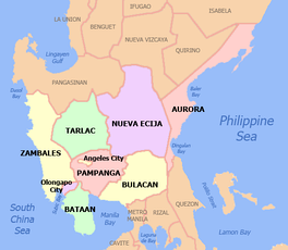 Political map of Central Luzon
