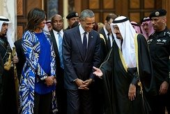 President Obama with King Salman of Saudi Arabia, Riyadh, 27 January 2015