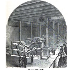 The press room of the Public Ledger, 1867