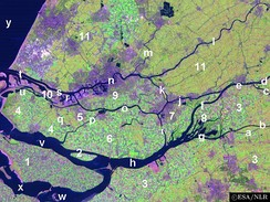 Satellite image of the Rhine–Meuse–Scheldt delta, showing the island of Hoekse Waard (6)