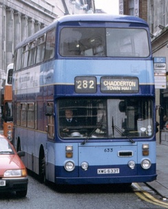 Citibus Tours Leyland Atlantean in Manchester in the 1990s