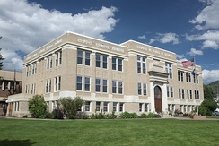 The Routt County Courthouse in Steamboat Springs, Colorado.