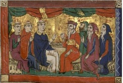 Athanasius at the Council of Nicea, William of Tyre manuscripts.