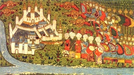Ottoman miniature of the siege of Belgrade in 1456
