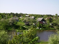 Allotments at Sista-Palkino, Lomonosovsky District, Leningrad Oblast, by the Sista river