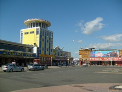 A view of the Southsea Promenade, which contains arcades, restaurants, cinemas and a pier (which cannot be seen in this photograph)