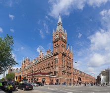 St Pancras railway station, London, England