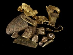The Staffordshire Hoard was discovered in a field near Lichfield