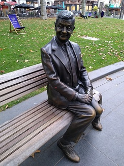 Statue of Mr. Bean in Leicester Square, London