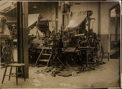 Cork Examiner presses smashed by Republican forces before the Free State army could arrive in Cork, 9–10 August 1922