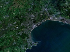 Satellite photo of Swansea