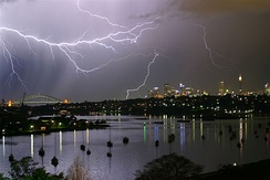 Thunderstorms and lightnings occasionally occur in the warm months.