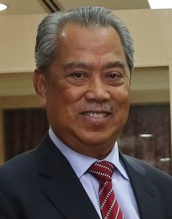 A photo of prime minister Muhyiddin Yassin as Minister of Home Affairs in 2018.