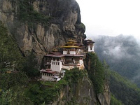 "The Taktsang Monastery, Bhutan, also known as the ""Tiger's Nest"""