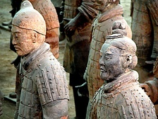 The Terracotta Army (c. 210 BCE) discovered outside the Mausoleum of the First Qin Emperor, now Xi'an