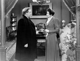 Charles Laughton and Rosalind Ivan