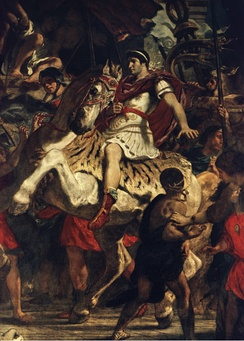 The Justice of Trajan (fragment) by Eugène Delacroix