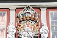 Coat of arms of the principality in early modern times (at Wolfenbüttel Palace)