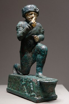 """The Worshipper of Larsa"", a votive statuette dedicated to the god Amurru for Hammurabi's life, early 2nd millennium BC, Louvre"