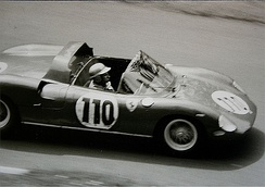 The Willy Mairesse / John Surtees Ferrari 250 P heading for victory at the 1963 1000 km Nürburgring
