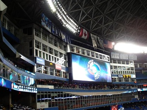 Jumbotron ad for the 2009 WBC at Rogers Centre