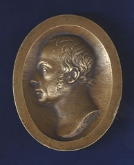 Medallion of Francis I, the first Emperor of Austria, designed by Philipp Jakob Treu in Basel, Switzerland on 13 January 1814. This was the date in the War of the Sixth Coalition when the allied monarchs of Russia, Austria and Prussia crossed the Rhine at Basel on their way to fight Napoleon in France.