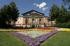The Richard Wagner Festival Hall on the Green Hill in Bayreuth