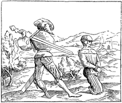 Beheading — facsimile of a miniature on wood in the Cosmographia of Sebastian Münster (1488–1552), Basel, Switzerland, 1552