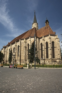 St. Michael's Church, the city's largest Gothic-style church