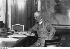 Ludendorff in his study at the General Headquarters, 1918