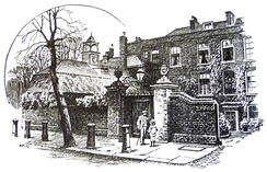 Cannon Hall, Hampstead, drawn by A.R. Quinton, 1911, where du Maurier spent much of her childhood.