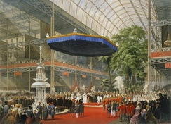 Queen Victoria opens the Great Exhibition in The Crystal Palace in Hyde Park, London, in 1851