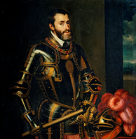 Charles V was ruler of the Holy Roman Empire from 1519 and, as Charles I, of the Spanish Empire from 1516 until his voluntary abdication in 1556.