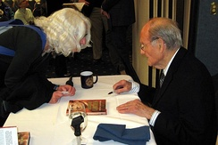 George McGovern signing books at the National Press Club, 2009