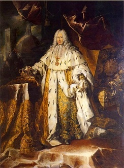 The Grand Duke Gian Gastone's coronation portrait; he was the last Medicean monarch of Tuscany